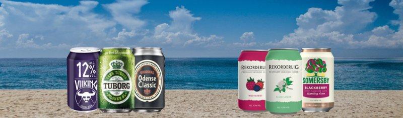 Skandinavische Getränke, Bier und Cider